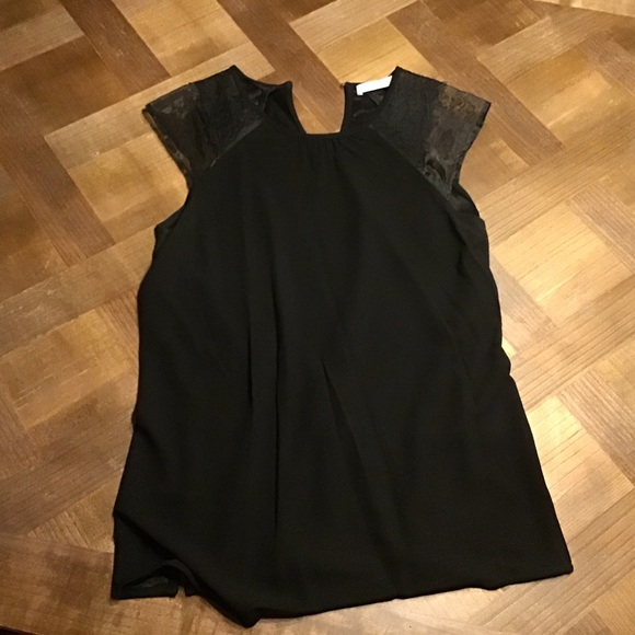 Hugo Boss black blouse with lace